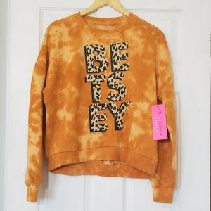 Betsey Johnson Tie Dye Crewneck Sweatshirt Medium